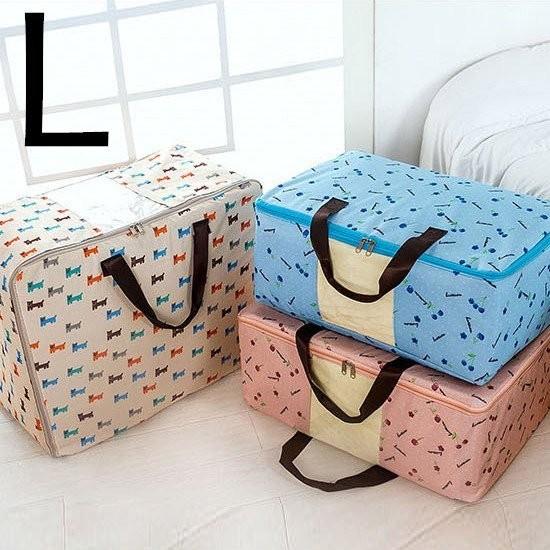 Color me ~A17 ~600D 牛津布收納袋L 居家手提透明整理衣物分類防塵置物衣