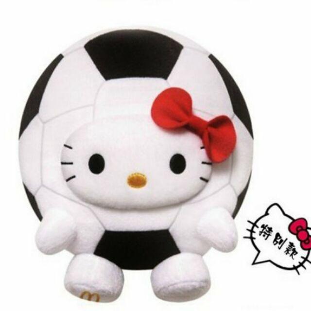 無紙盒香港麥當勞麥當當Hello Kitty 世界杯世足盃特別版足球 變裝玩偶KT 凱蒂貓