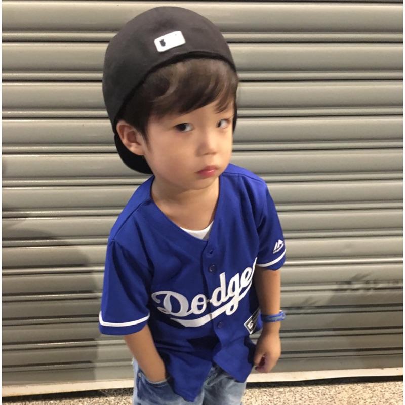 MLB 道奇隊藍兒童球衣球迷版客場藍