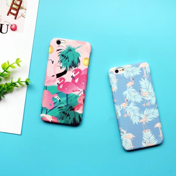 日韓文藝紅鶴鳥磨砂硬殼手機殼蘋果iphone6 6s 6 6s plus 7 7plus
