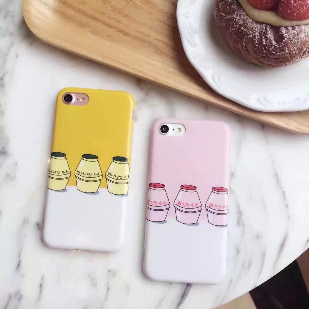 iPhone7 Iphone6 6s plus 手機殼韓國草莓香蕉牛奶軟邊手機殼( )
