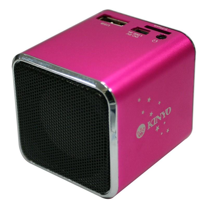 小港3C KINYO MPS 372 音樂盒MPS372 讀卡喇叭桃~附吊繩~MP3 插卡
