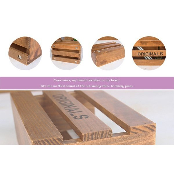 TG 16 木盒收納盒筆筒收納盒收納木盒木箱復古木盒展示櫃開店裝潢擺飾