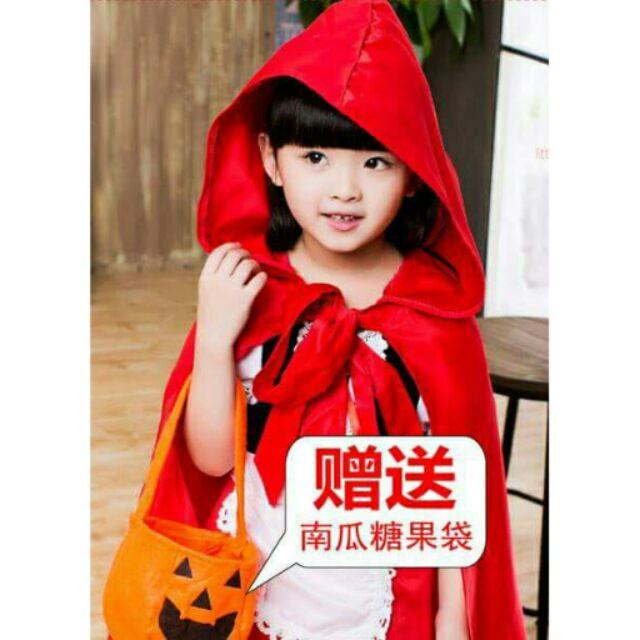 萬聖節化妝舞會演出女童童話小紅帽公主裙