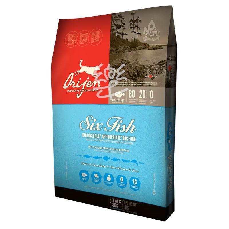 加拿大ORIJEN 渴望六種魚海藻成犬飼料1 2kg