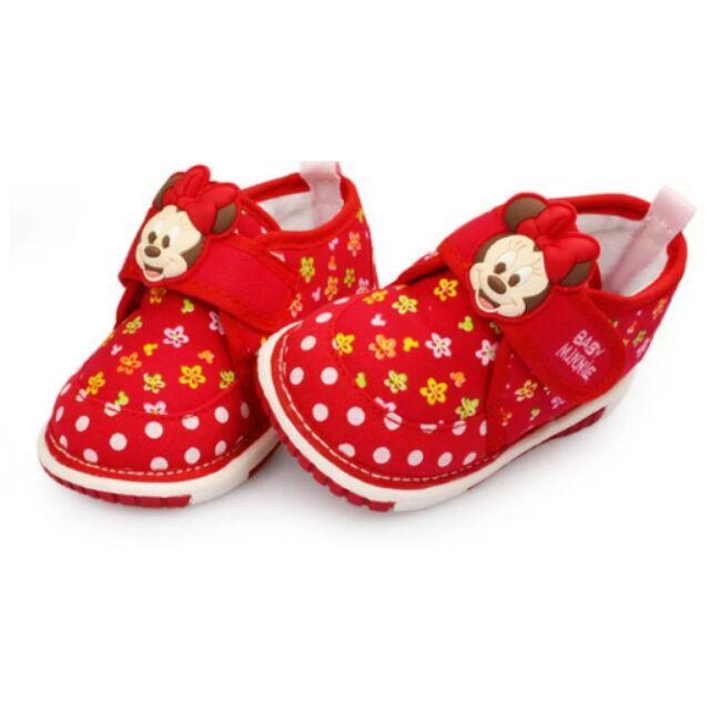 包恩鞋鞋屋 迪士尼 學步鞋叫叫鞋嗶嗶鞋休閒 鞋女寶寶鞋冬天內刷毛米妮鞋