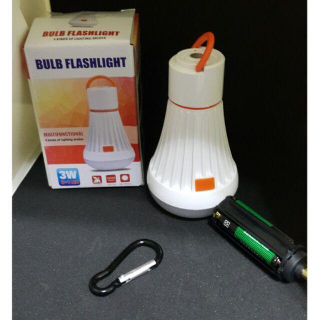 3W 白光燈泡 露營燈手電筒18650 4 號電池兩用工作燈附強力磁鐵帳篷燈營地燈野營燈閃