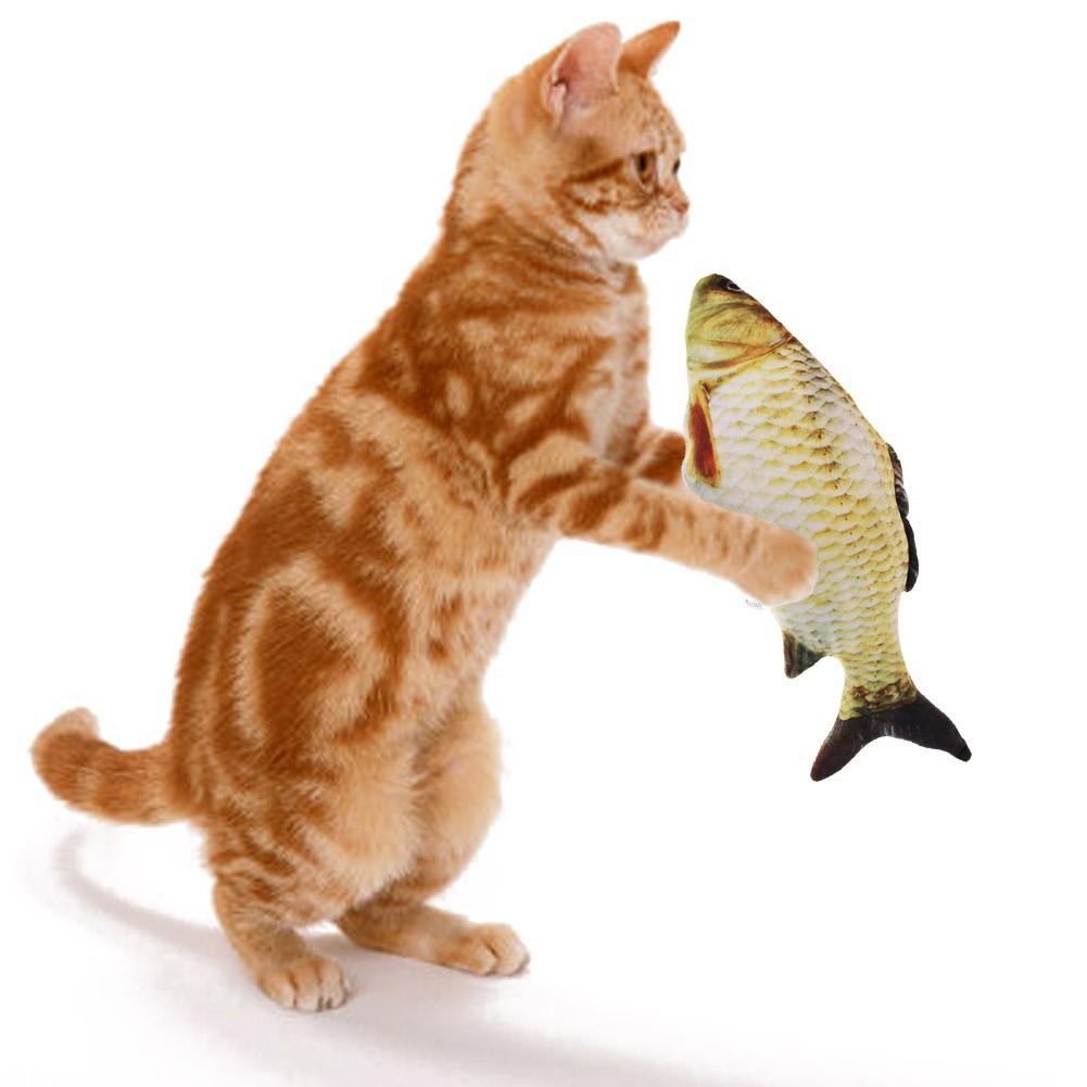 送给貓咪最愛最抓狂的玩具貓薄荷魚逗貓玩具貓咪互動玩具