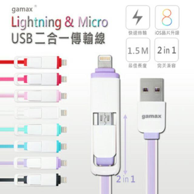 製gamax 2a 快充神線 製gamax iPhone 6 6 PLUS 5 5S MI