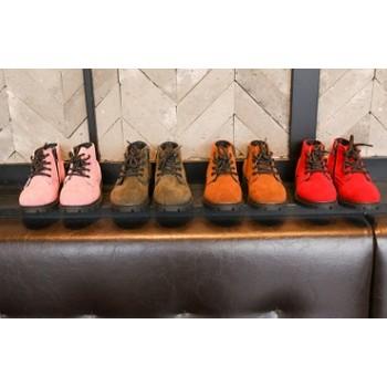 反絨布休閒兒童馬丁鞋中筒靴短靴中童鞋26 30
