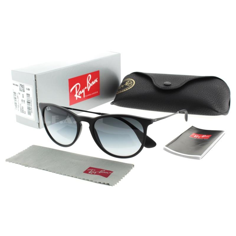 Ray Ban Erika Round Sunglasses Lens 54mm 女款黑