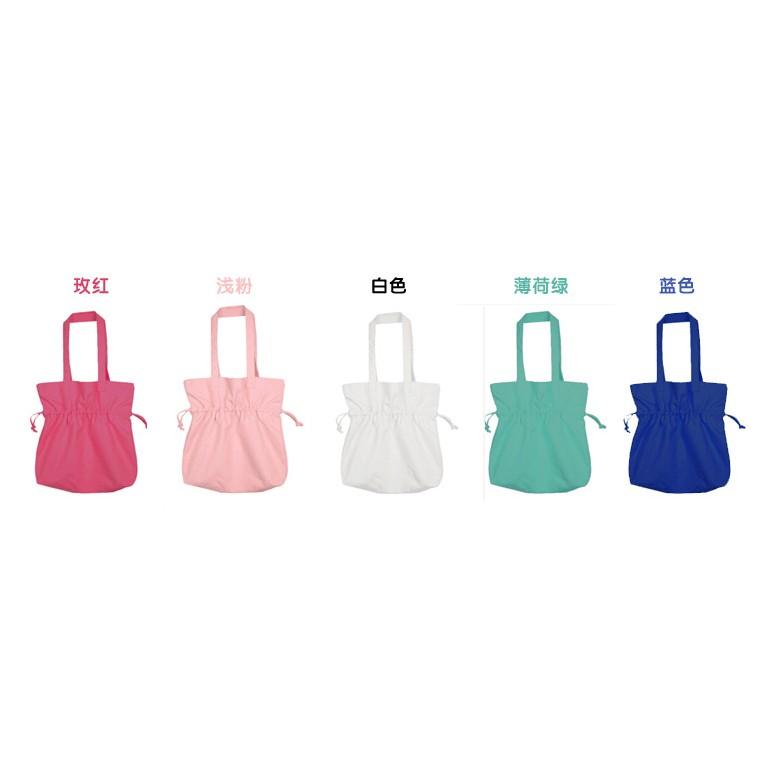 韓國帆布包ulzzang 日系 手提包純色單肩布包水桶包