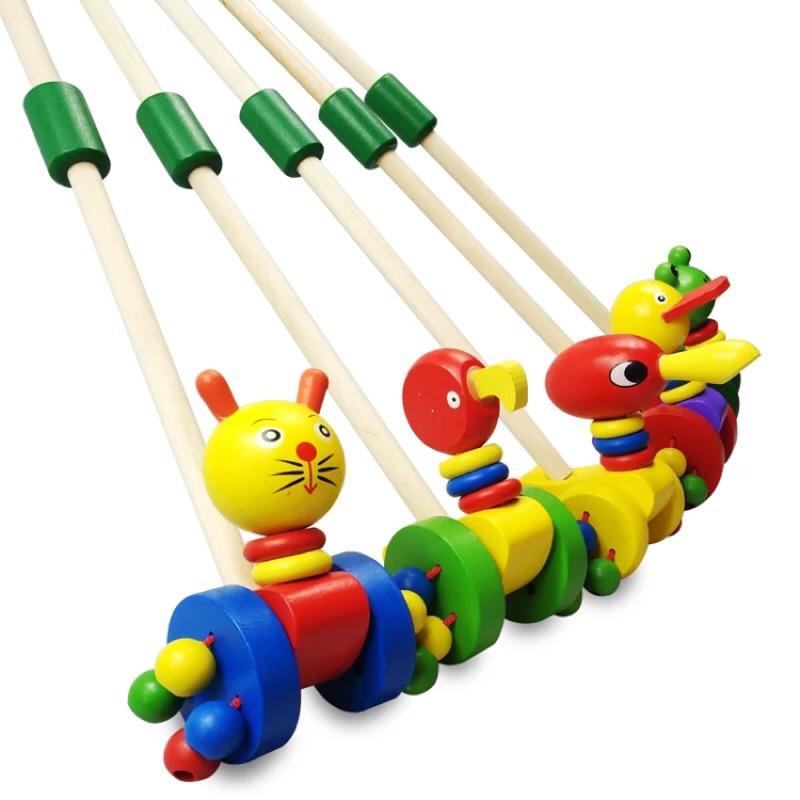 ❤️ ❤️幼兒學步動物手推桿❤️木質手桿推推樂❤️