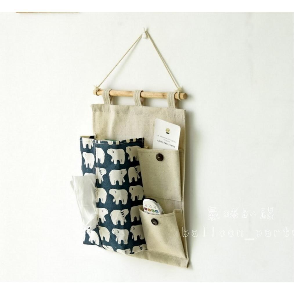 Zakka 棉麻收納掛袋多層壁掛袋面紙套日系雜貨雜物收納收納袋