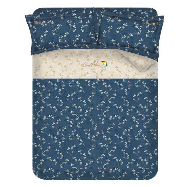 ~Arnold Palmer 雨傘牌~浮草之詩60 紗精梳純棉床包被套雙人加大四件組