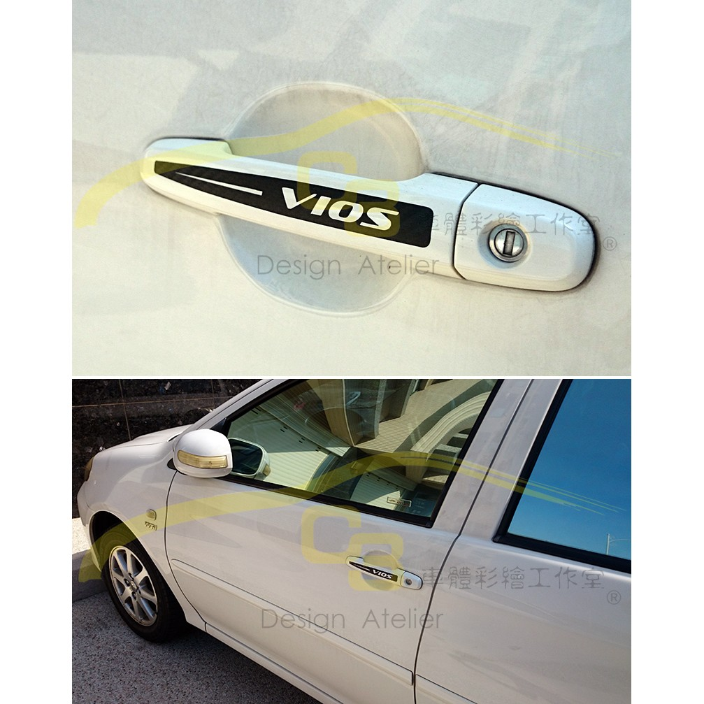 ~C3 車體彩繪工作室~Toyota 豐田VIOS 門把貼把手貼手把貼貼紙carbon 車