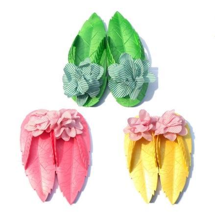 2016  樹葉休閒可愛大花朵防滑人字拖平底涼拖鞋沙灘鞋