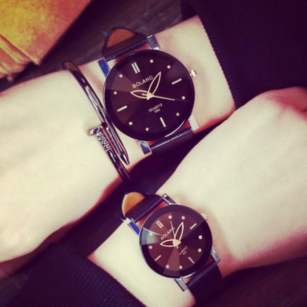 韓國手錶女學生 潮流原宿風 簡約黑白情侶一對非機械表