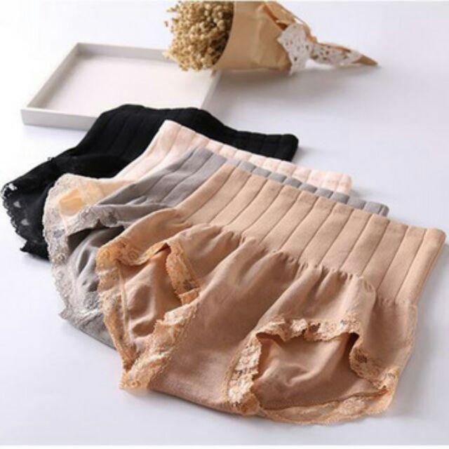 ~ 燃脂記憶蕾絲塑身內褲~n 舒適修飾n 膚色灰色黑色3 色 n 把小肚肚收起來~身材變更