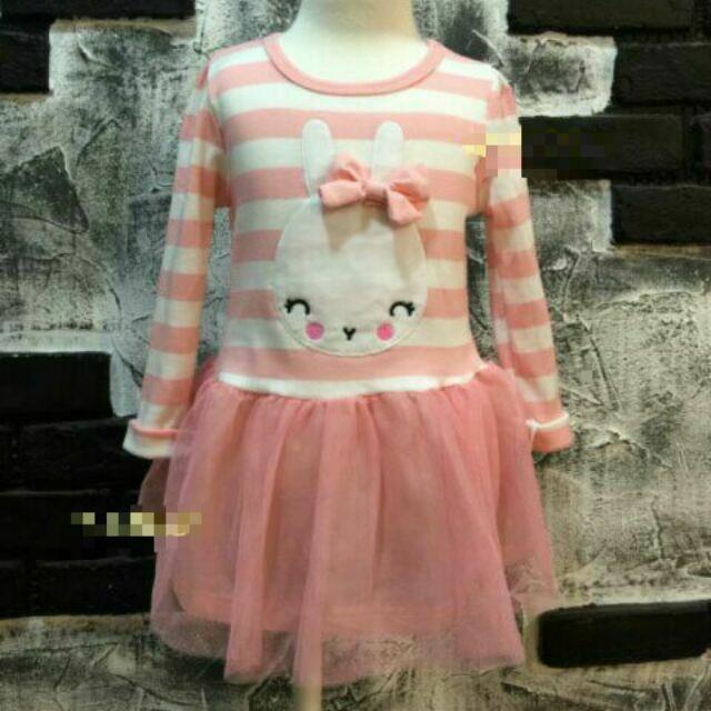可愛蝴蝶結兔兔紗裙洋裝