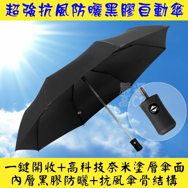 超強抗風奈米科技黑膠全自動傘雙人傘抗強風一鍵開收傘折疊便利攜帶自動傘摺疊傘折傘反向傘