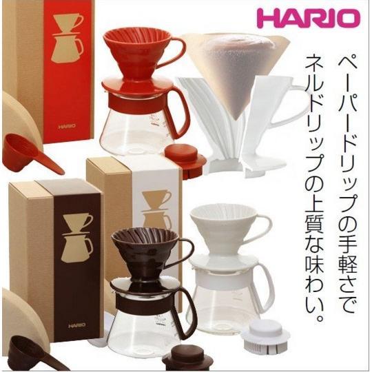 HARIO V60 同色系 款VDS 3012 陶瓷濾杯耐熱玻璃壺濾紙2 色白色紅色