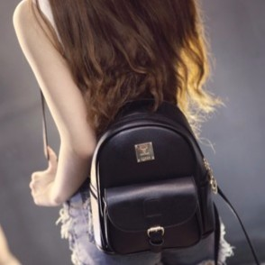 ❤ 雙肩包女式日 背包女士簡約百搭包包學生書包學院風
