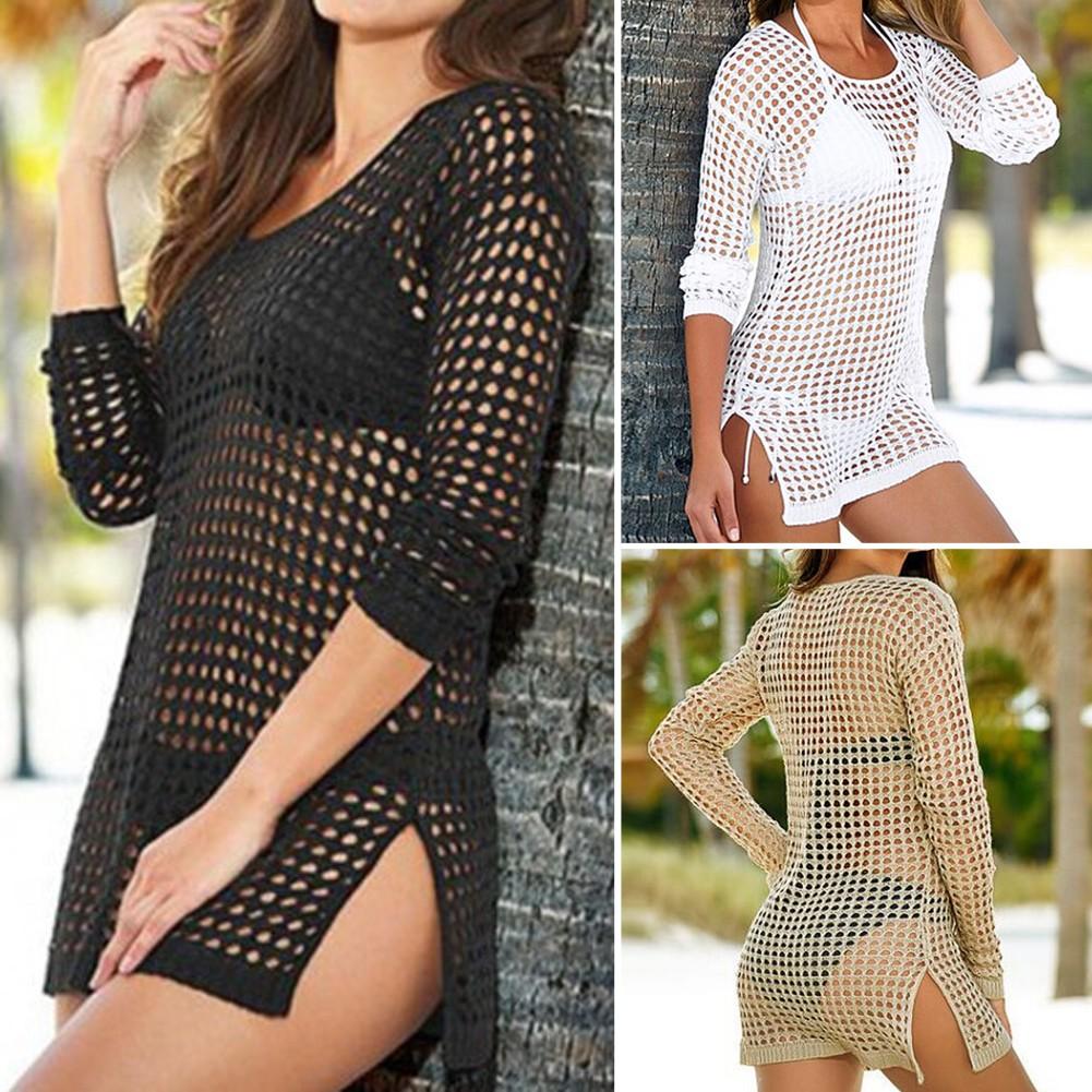 女士女生比基尼罩衫沙灘防曬上衣