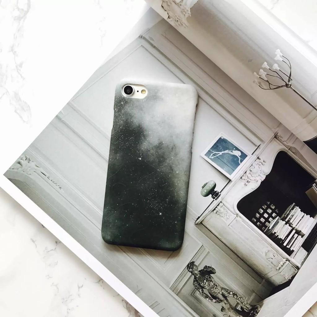 iPhone 系列黑色星空水貼硬殼半包手機保護殼超薄手感好iPhone6 i7p 手機保護