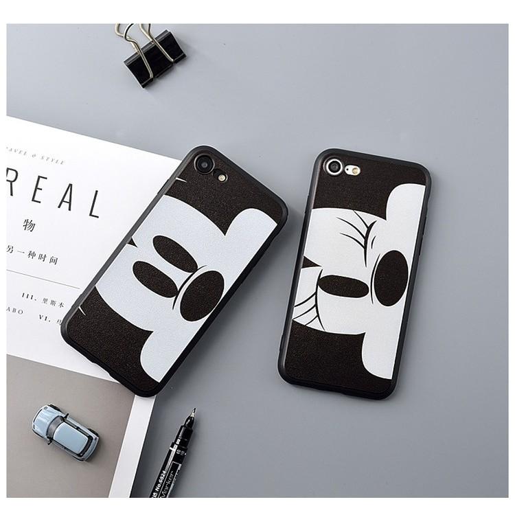 iPhone7 7plus 6 6s 6plus 6splus 可愛大臉眨眼米奇米妮情侶款