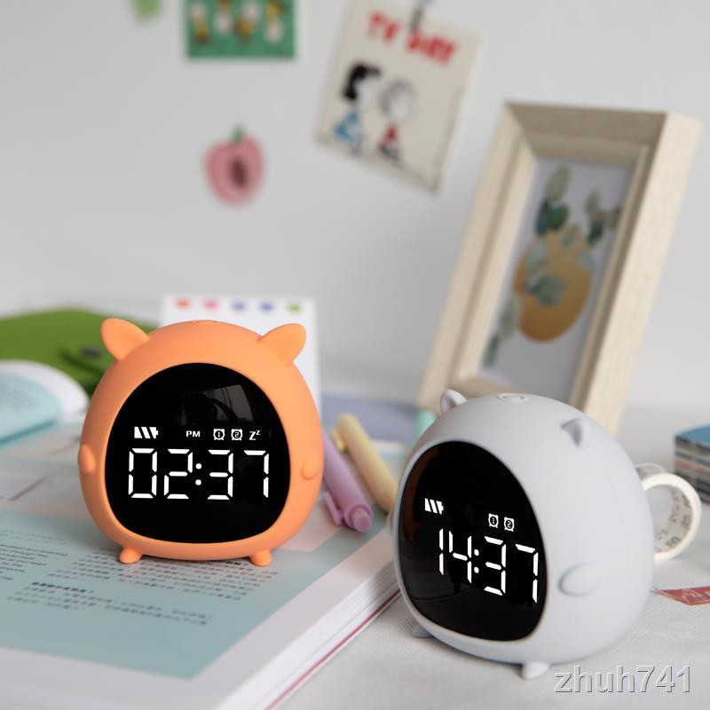 📣計時器現貨 小鬧鐘計時定時器學生充電簡約宿舍迷你可愛網紅靜音床頭貪睡鬧鐘 鬧鐘 時鐘 計時 小鬧鐘 靜音計時器