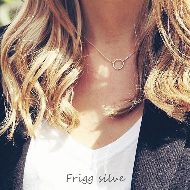 爆熱 款簡約圓圈項鍊幾何圖形圓圈純銀飾品生日 送禮情人 Frigg silver NS03