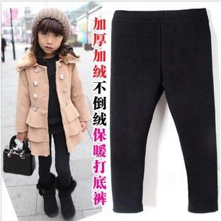 超保暖兒童內搭褲不倒絨加厚打底褲兒童保暖褲童褲