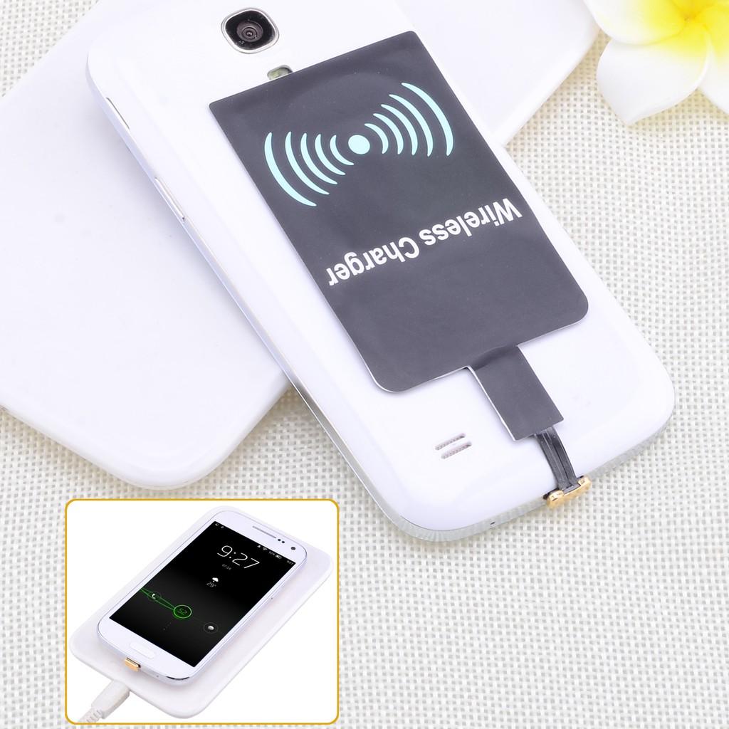 萬能無線充電接收器支援安卓Android 無線電源接收器正面黑色