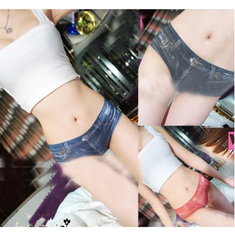 E 廠Q8522 性感熱辣超短牛仔短褲安全褲內搭褲3 色