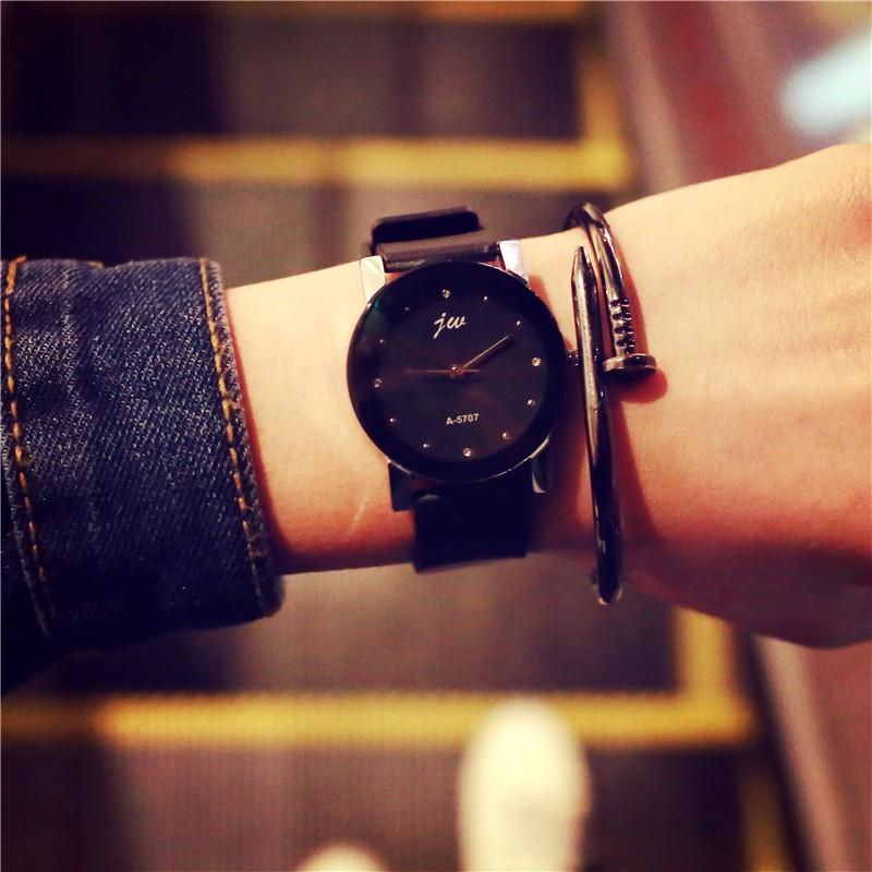 韓國款女生初中學生潮流 簡約休閒石英手錶 小錶盤男錶女錶