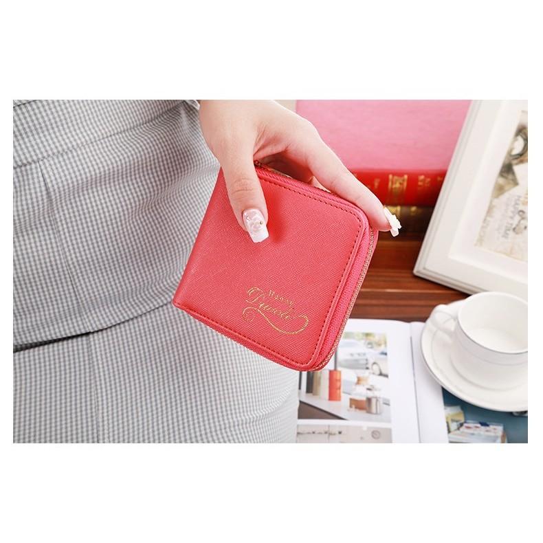 簡約方形錢包短款拉鍊小錢包短夾零錢包