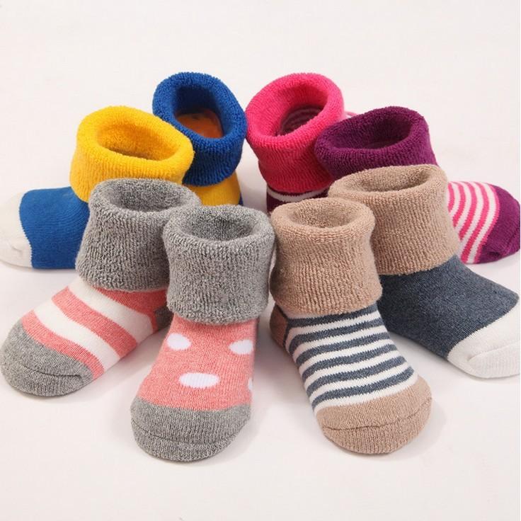 厚款外貿純棉寶寶襪厚款全棉兒童襪女童男童可愛嬰兒襪學步