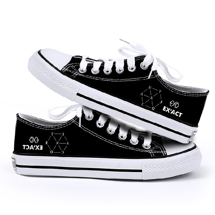 東大 A5715 exo EX ACT 同款低幫帆布鞋子學生 平底繫帶板鞋DFBX167