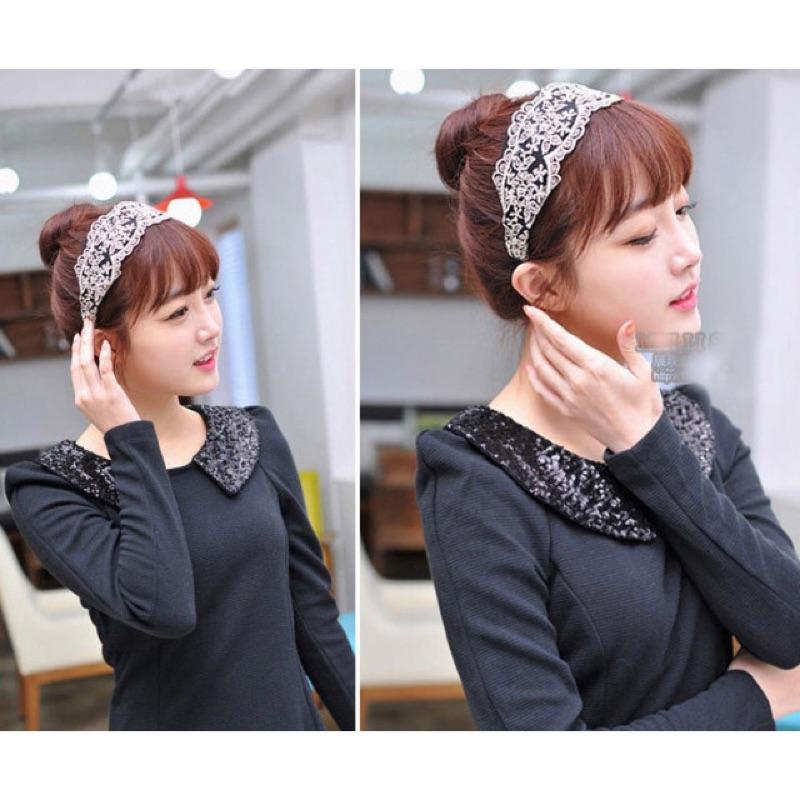 韓國氣質蕾絲髮箍