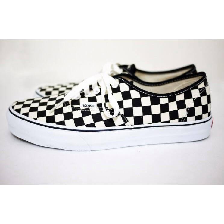 ~Sharkhead ~vans Vans authentic 棋盤格紋鞋帶棋盤格OLD