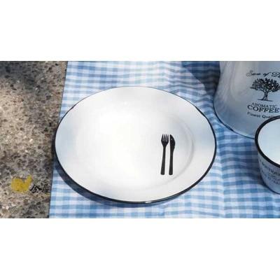 小法國琺瑯系列懷舊Vintage 風深型湯碟濃湯碗北歐雜貨代工廠月兔印可參考