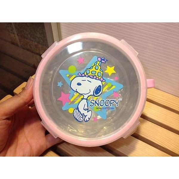 迪士尼不銹鋼口環隔熱碗兒童碗史努比塔克粉紅色保鮮盒隔熱碗環保碗