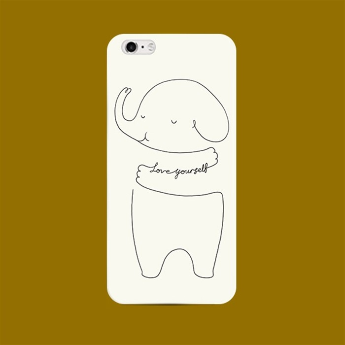 iPhone7 ⃣️精裝鐵盒版大象名言要愛自己不掉色磨砂軟殼蘋果iPhone7 iPhon