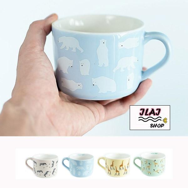 小清新動物陶瓷牛奶杯咖啡杯早餐杯民宿餐廳斑馬長頸鹿梅花鹿北極熊