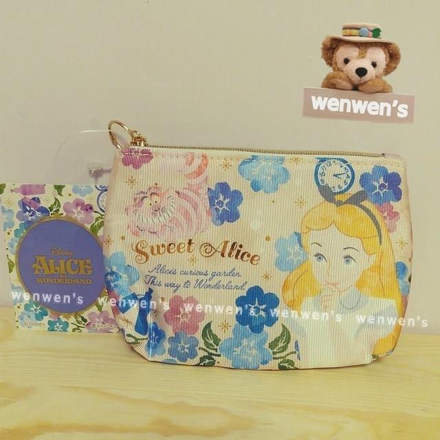 ~Wenwens ~ 帶回Disney 迪士尼愛麗絲ALICE 妙妙貓金蔥線刺繡珍珠拉鍊花