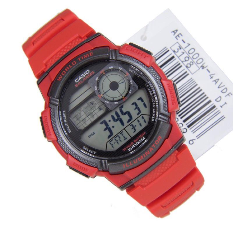 CASIO 手錶10 年電力錶款AE 1000W 以飛機儀表板為發想概念CASIO 貨