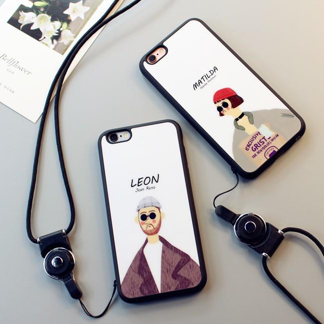 iphone7plus 終極追殺令情侶手機殼亞克力光面手機殼iPhone7 保護套防摔掛繩