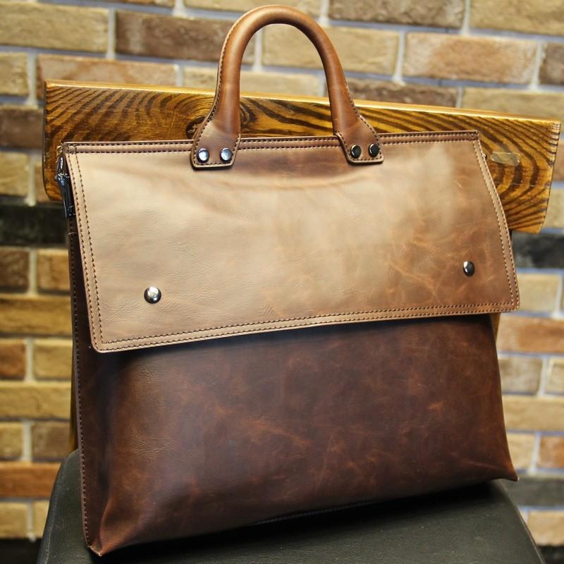 男士手提包橫款 復古包包手拎包男潮款 公文包信封包男包