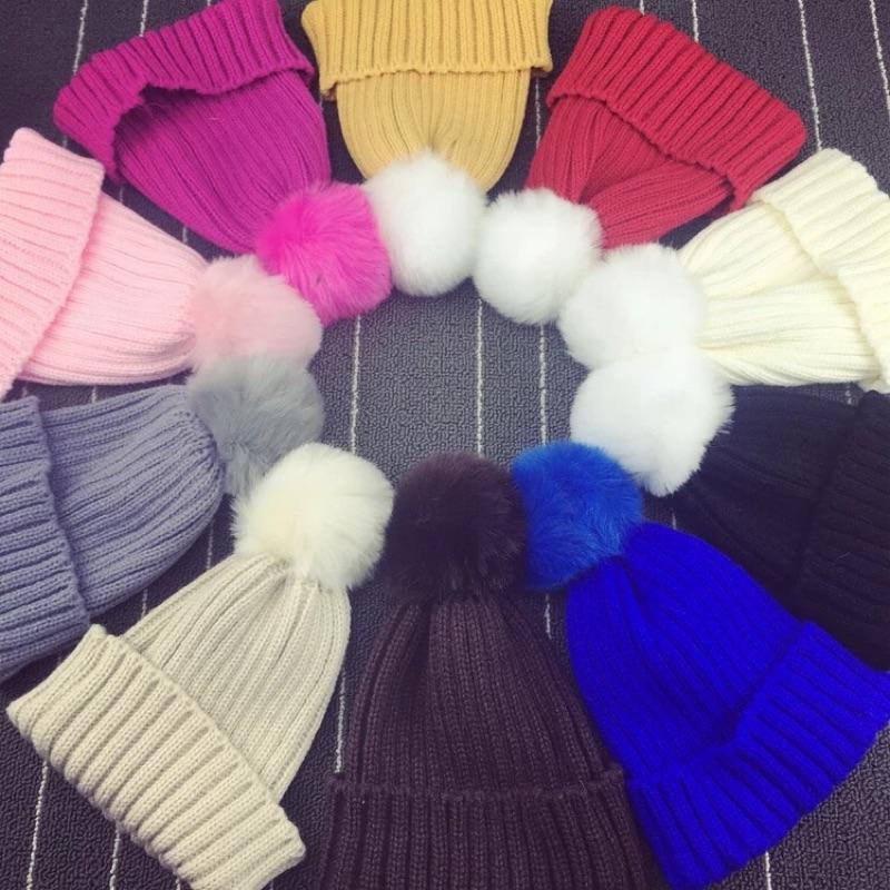 冬天兒童針織毛帽